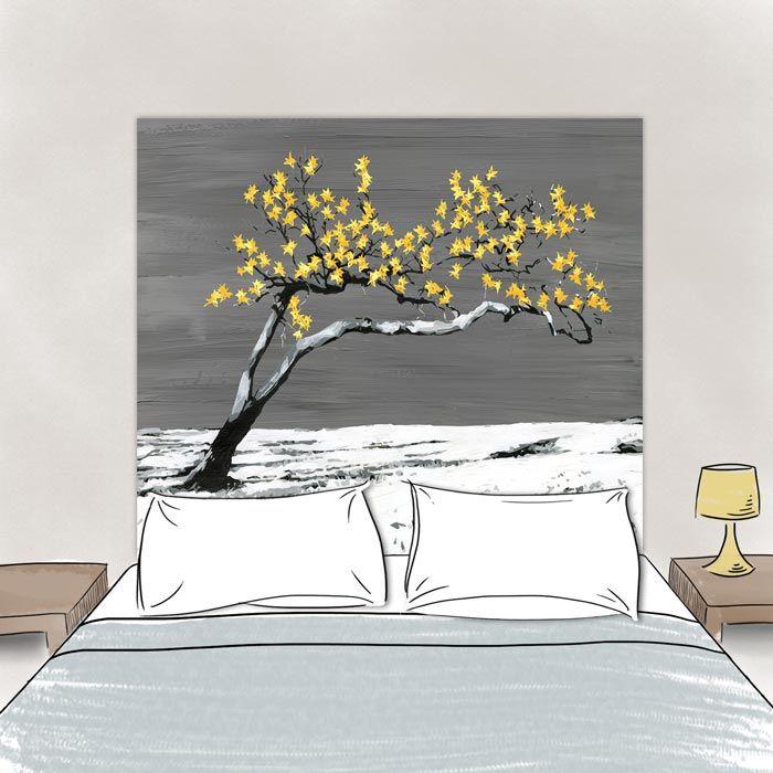 Tete de lit Renaissance Jaune