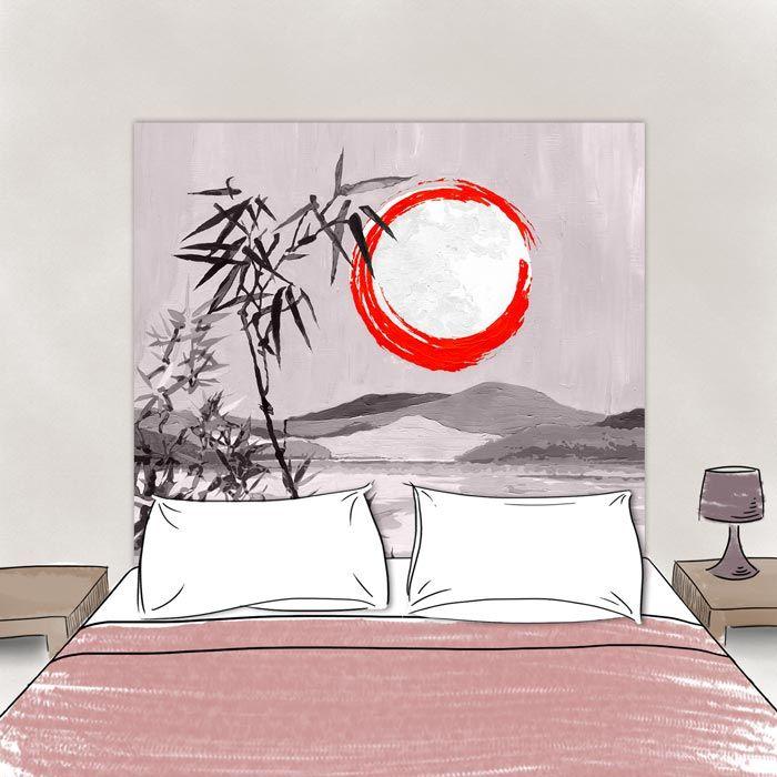 Tete de lit Sous la Lune Monochrome