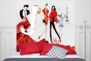 Tete de lit La Mode a Paris 160*140 cm