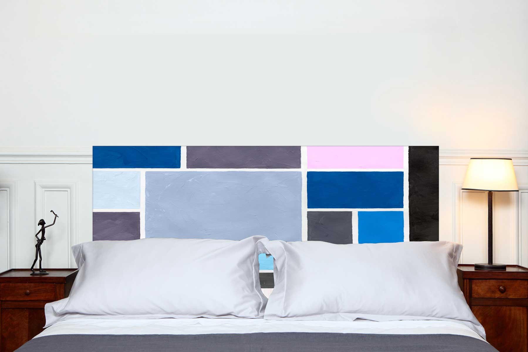 Tete de lit Poudrees Bleu 160*70 cm