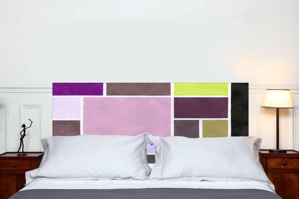 Tête de lit Poudrées Prune 160*70 cm