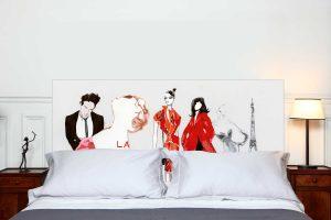 Tete de lit La Mode a Paris 160*70 cm