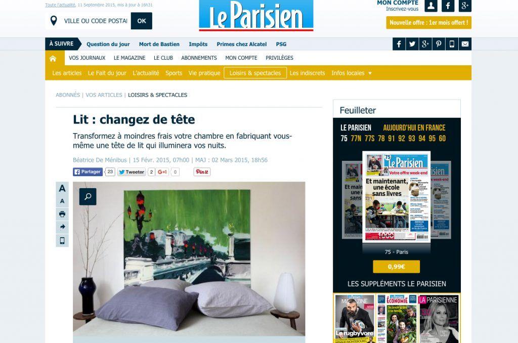 tete de lit le parisien