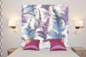 Tete de lit Plumes des Caraibes 160*140 cm