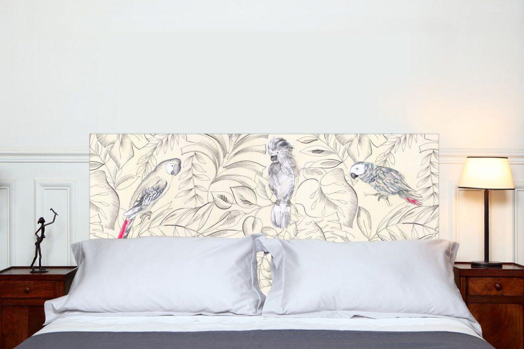 Tete de lit Perroquets 160*70 cm