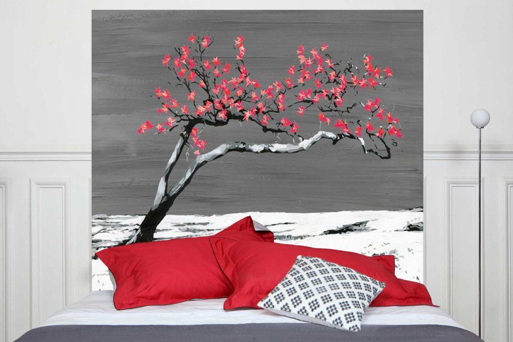 Tete de lit Renaissance Rouge 160*140 cm