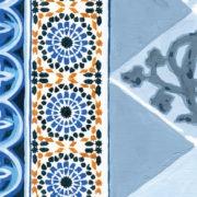Zoom Tete de lit Mosaiques