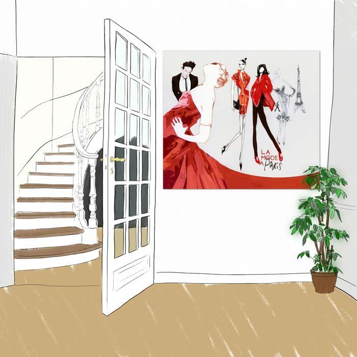 Panneau decoratif La mode a Paris
