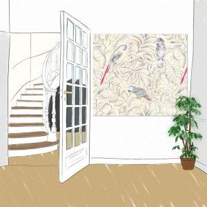 Panneau decoratif Perroquets