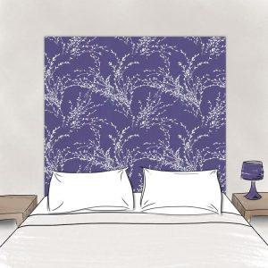 tete de lit en tissu rameaux 160 cm