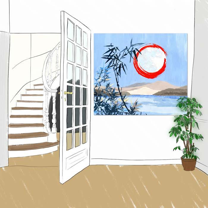 Panneau decoratif Sous la Lune