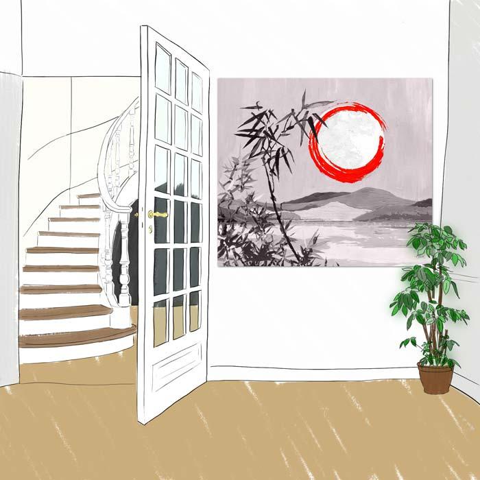 Panneau decoratif Sous la Lune mono