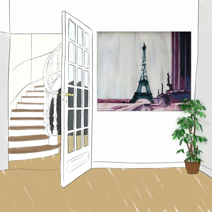 Panneau decoratif Trocadero