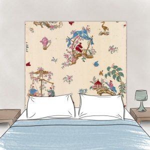 tete de lit chinoiseries dessin
