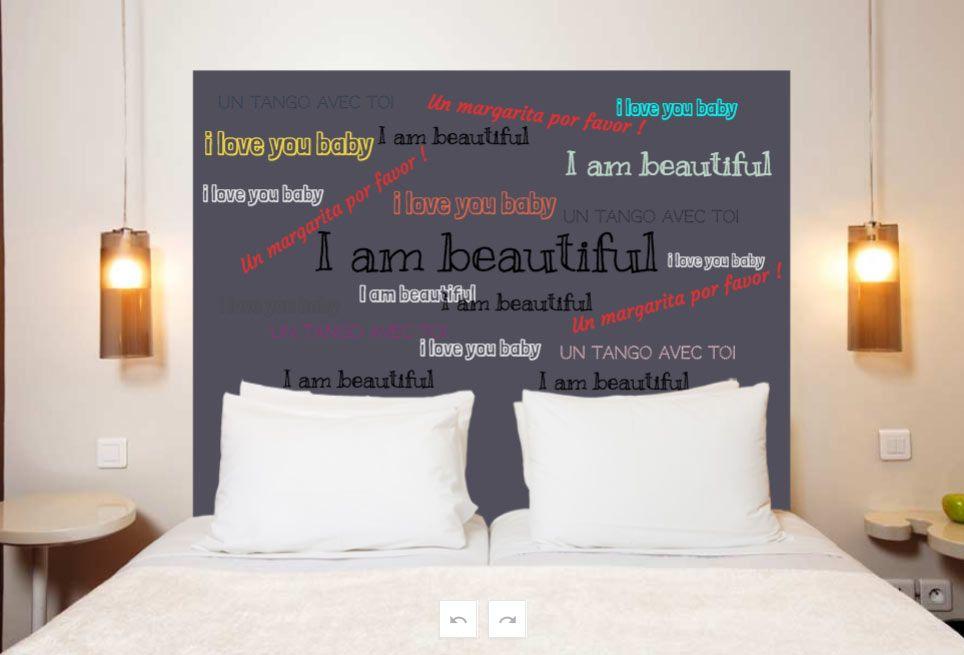 t te de lit personnalis e format portrait. Black Bedroom Furniture Sets. Home Design Ideas