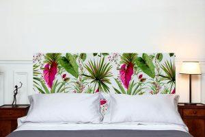 tête de lit sous les tropiques format paysage 160*70 cm