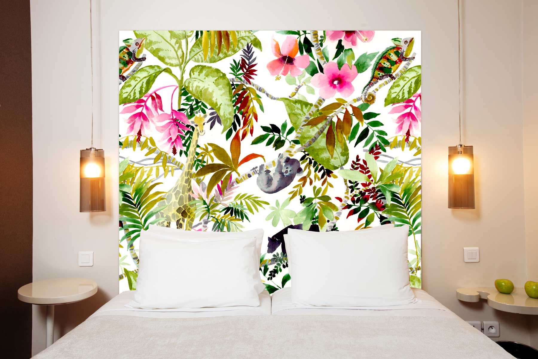tete de lit Jungle 160*140 cm