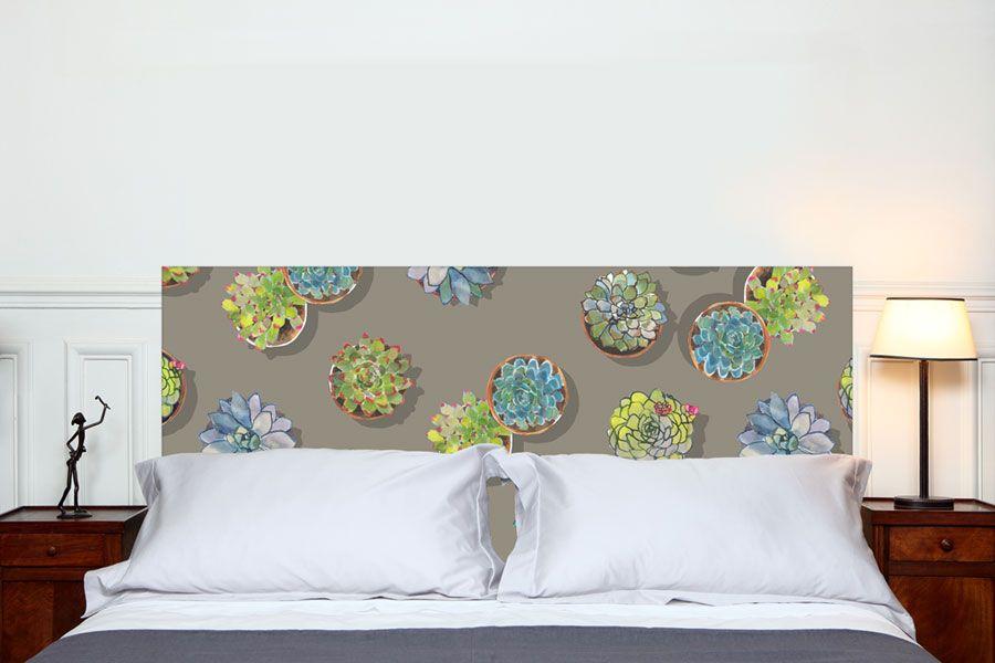 tête de lit les succulentes MES format paysage 160*70 cm