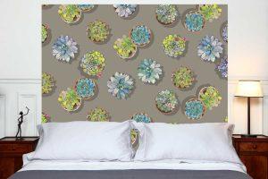 Tete de lit les Succulentes 160*140 cm