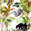 visuel tete de lit Jungle 160*70 cm