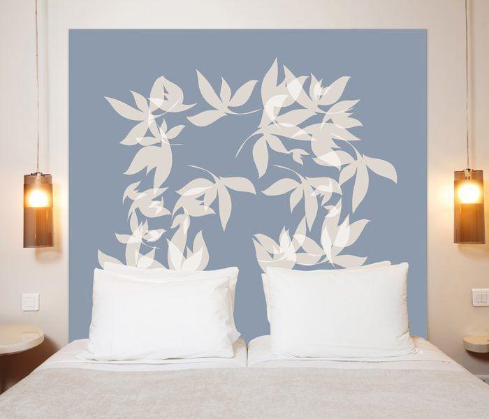 t te de lit tourbillon en tissu une oeuvre d 39 art en t te de lit. Black Bedroom Furniture Sets. Home Design Ideas