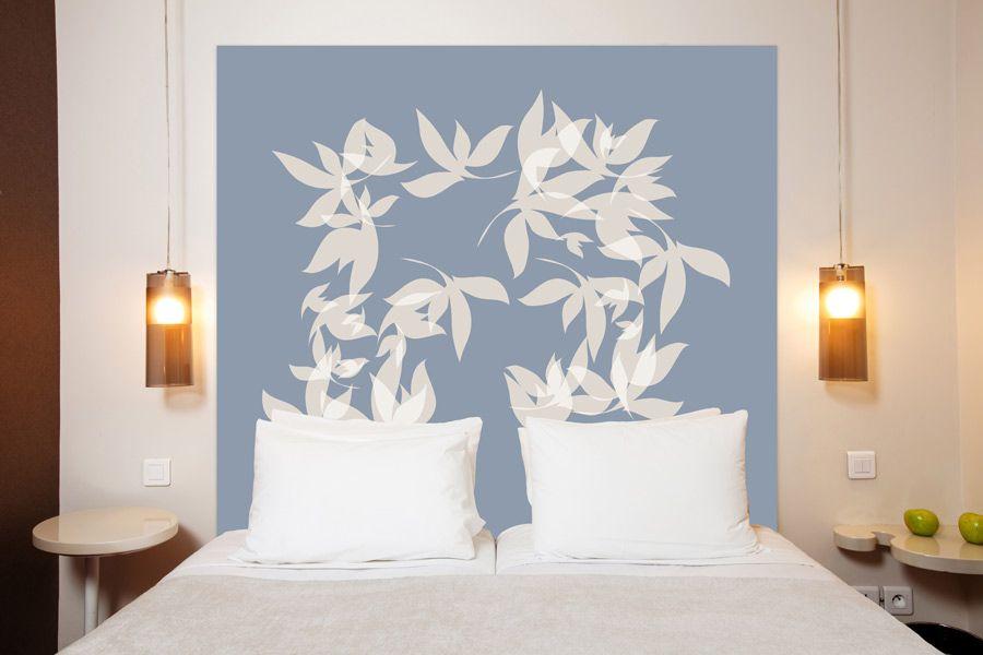 T te de lit tourbillon en tissu une oeuvre d 39 art en t te - Tour de lit 160 ...