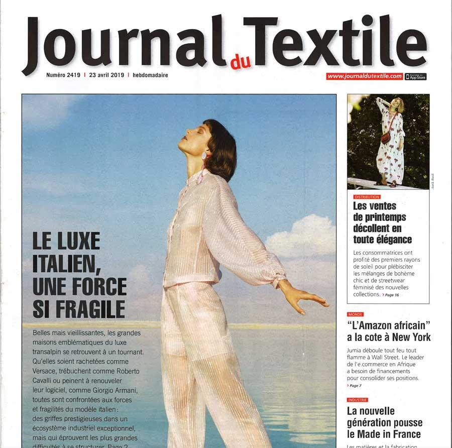 Journal du Textile 23 avril 2019 Têtes de lit Mademoiselle Tiss