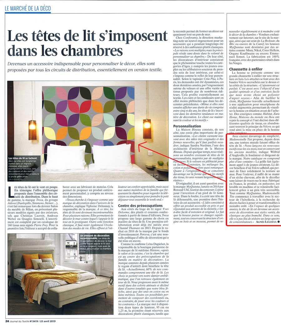 Journal du Textile Mademoiselle Tiss