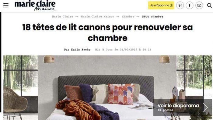 Marie Claire Maison tête de lit