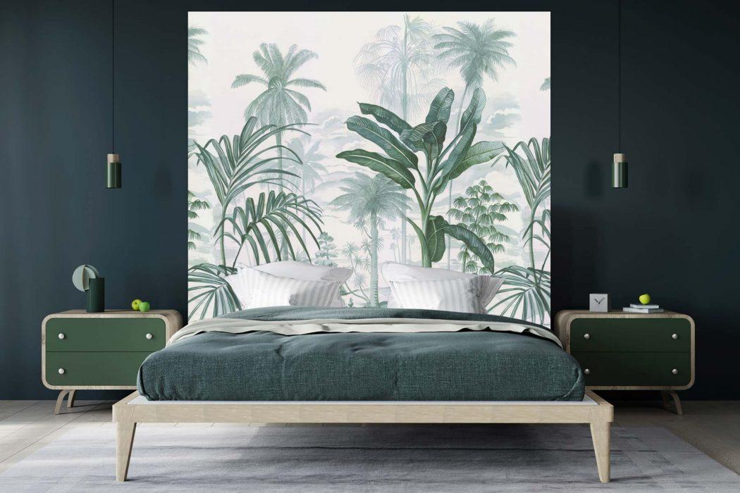 Tête de lit Jardin Tropical 160*140 cm