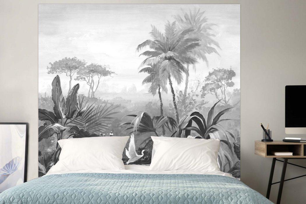 Tête de lit l'Envol Noir & Blanc 160*140 cm