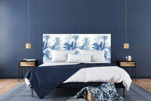 Tête de lit Jardin Tropical Bleu 160*70 cm