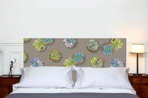Tête de lit les Succulentes 70