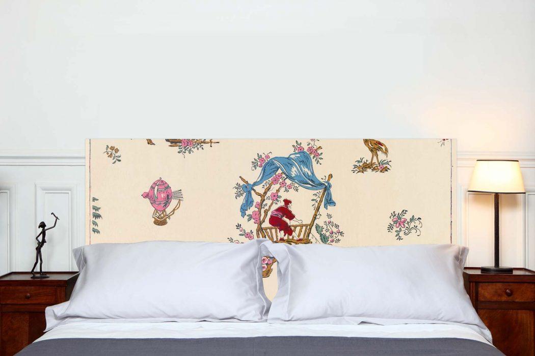 Tete de lit chinoiseries 160*70 cm