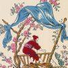 zoom tete de lit chinoiseries 160*70 cm